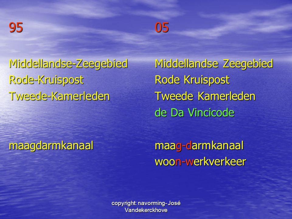 copyright: navorming- José Vandekerckhove 9505 Middellandse-ZeegebiedMiddellandse Zeegebied Rode-KruispostRode Kruispost Tweede-KamerledenTweede Kamer