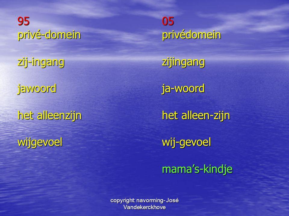 9505 privé-domeinprivédomein zij-ingangzijingang jawoordja-woord het alleenzijnhet alleen-zijn wijgevoelwij-gevoel mama's-kindje