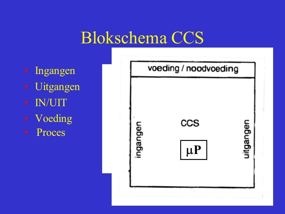 Blokschema CCS Ingangen Uitgangen IN/UIT Voeding PP Proces