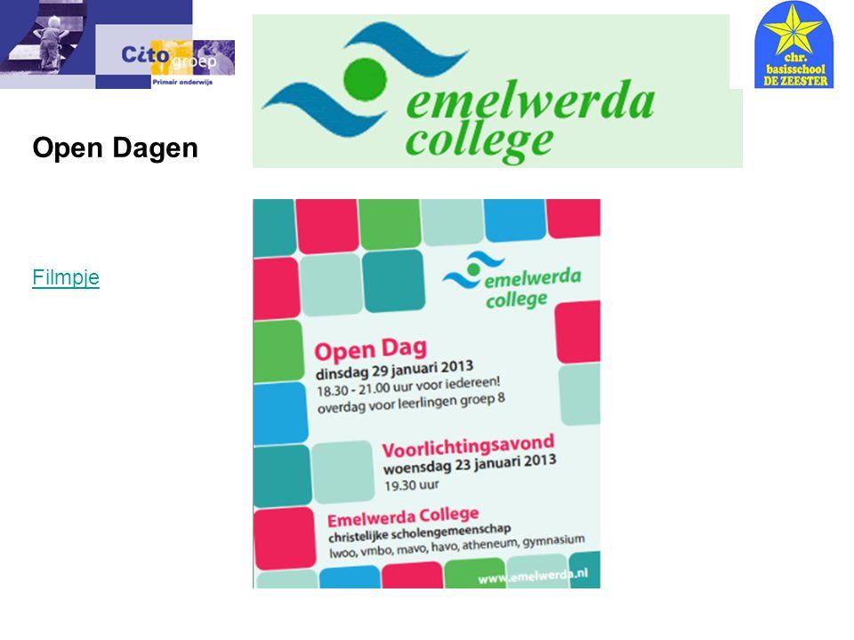 Open Dagen Informatie avond – CITO 9-01-07 Filmpje