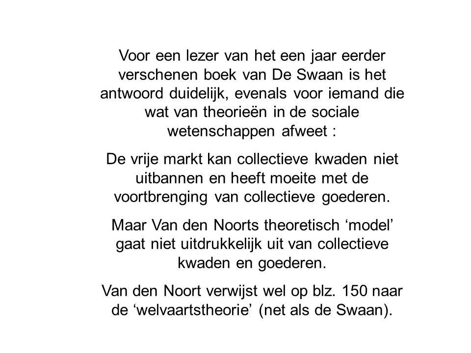 Voor een lezer van het een jaar eerder verschenen boek van De Swaan is het antwoord duidelijk, evenals voor iemand die wat van theorieën in de sociale