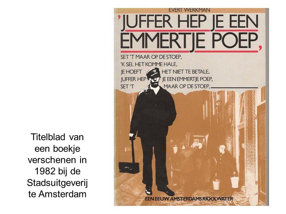 Titelblad van een boekje verschenen in 1982 bij de Stadsuitgeverij te Amsterdam