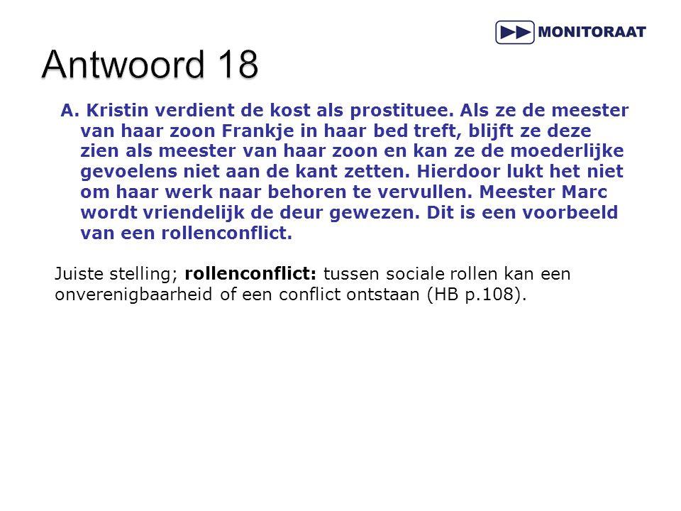 A.Kristin verdient de kost als prostituee.