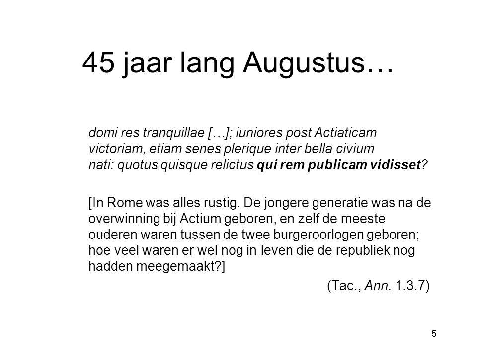 46 De verhouding tussen Ovidius en Augustus Cf.S.