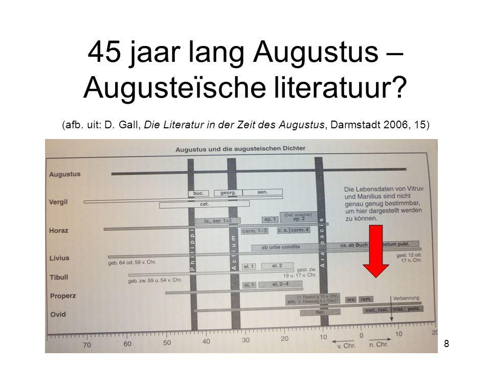 45 jaar lang Augustus – Augusteïsche literatuur? (afb. uit: D. Gall, Die Literatur in der Zeit des Augustus, Darmstadt 2006, 15) 8