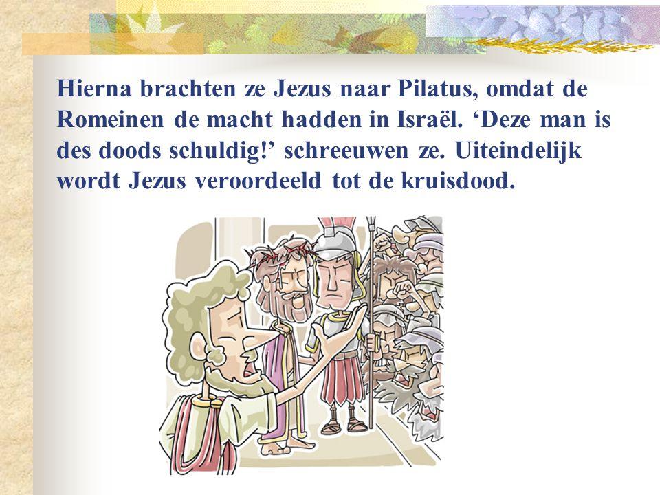 De Joodse Raad kon niets tegen Jezus vinden. Tenslotte vroegen ze hem: 'Ben jij de Christus, de zoon van God?' En Jezus antwoordde: 'Ik ben het!'