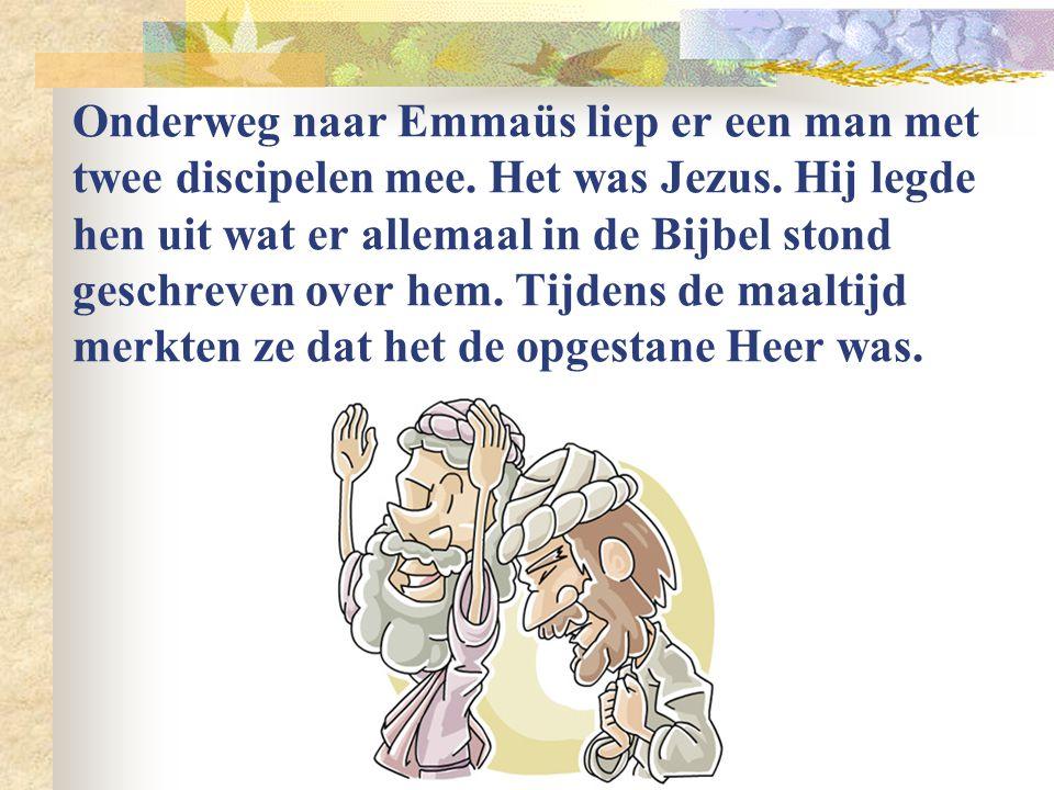 Na drie dagen stond Jezus op uit de dood. Drie vrouwen die naar het graf waren gekomen hoorden het van een engel.