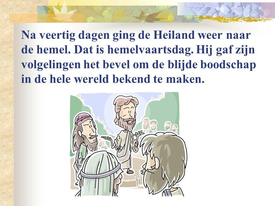 Jezus verscheen aan de discipelen en aan Tomas. Op een keer, toen de discipelen weer gingen vissen stond Jezus aan de kant. Hij had een maaltijd voor