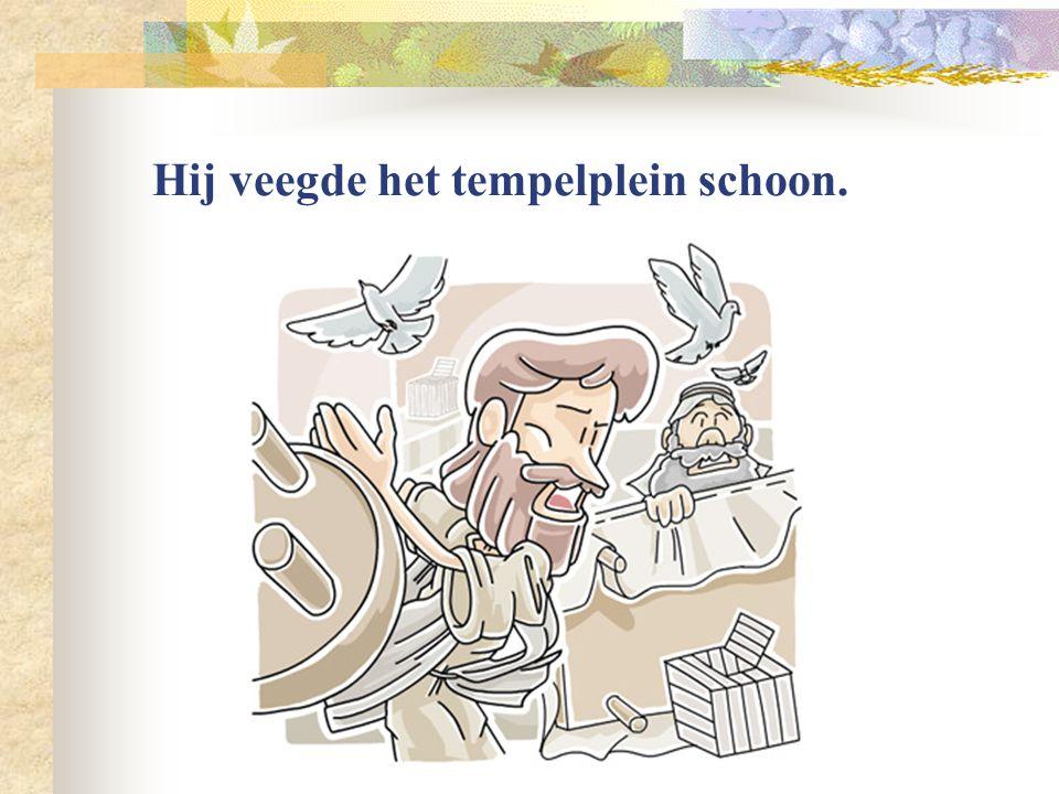 Op een ezelin reed Jezus Jeruzalem binnen. De mensen zwaaiden met palmtakken. Dit vieren wij nog als Palmpasen.
