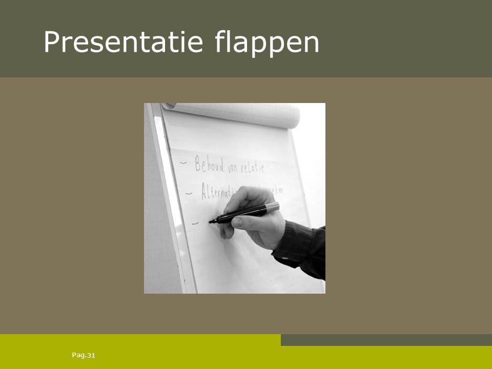 Pag. Presentatie flappen 31
