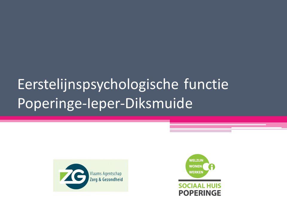 Eerstelijnspsychologische functie Poperinge-Ieper-Diksmuide