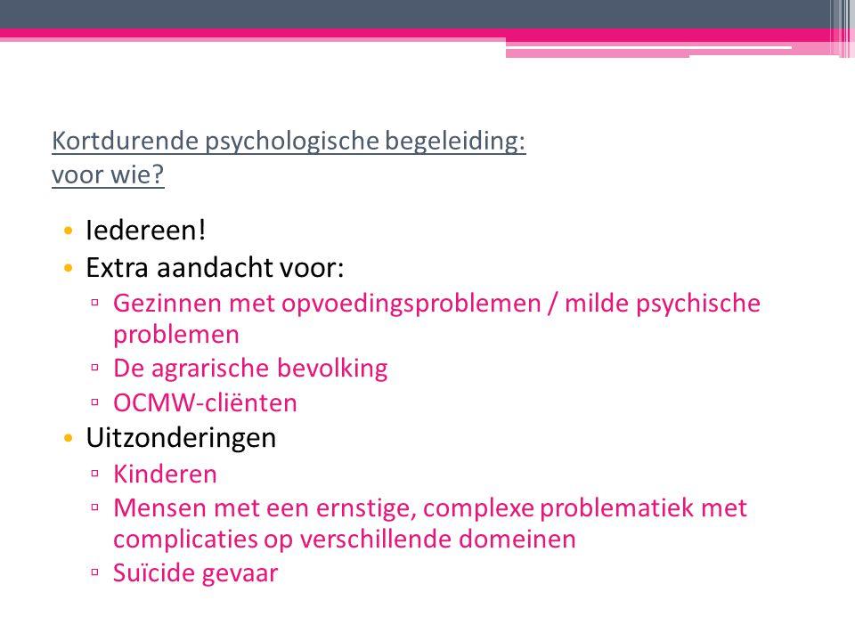 Kortdurende psychologische begeleiding: voor wie. Iedereen.