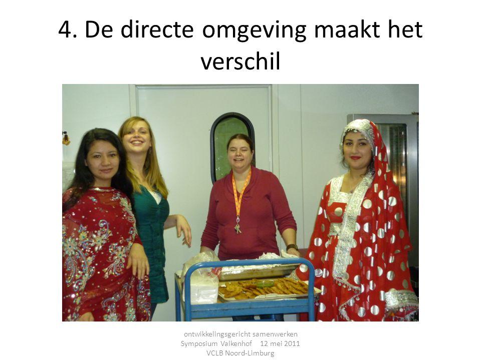 4. De directe omgeving maakt het verschil ontwikkelingsgericht samenwerken Symposium Valkenhof 12 mei 2011 VCLB Noord-Limburg