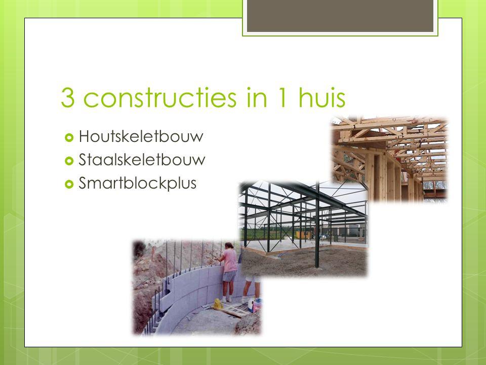 3 constructies in 1 huis  Houtskeletbouw  Staalskeletbouw  Smartblockplus