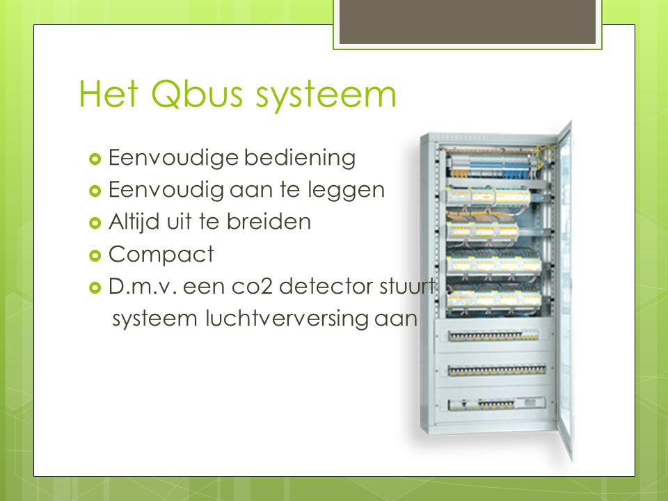 Het Qbus systeem  Eenvoudige bediening  Eenvoudig aan te leggen  Altijd uit te breiden  Compact  D.m.v.