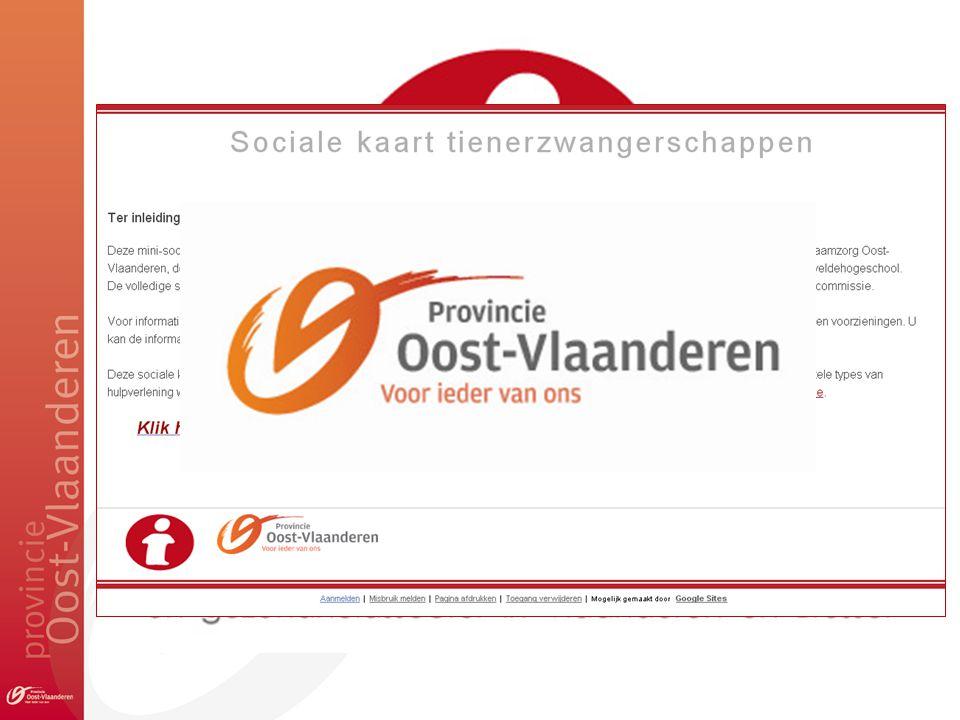 MINI (???) SOCIALE KAART TIENERZWANGERSCHAPPEN 1.www.desocialekaart.be 2.Sociale kaart op maat 3.Werkwijze 4.Sociale kaart tienerzwangerschappen