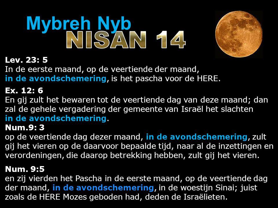 Lev. 23: 5 In de eerste maand, op de veertiende der maand, in de avondschemering, is het pascha voor de HERE. Ex. 12: 6 En gij zult het bewaren tot de