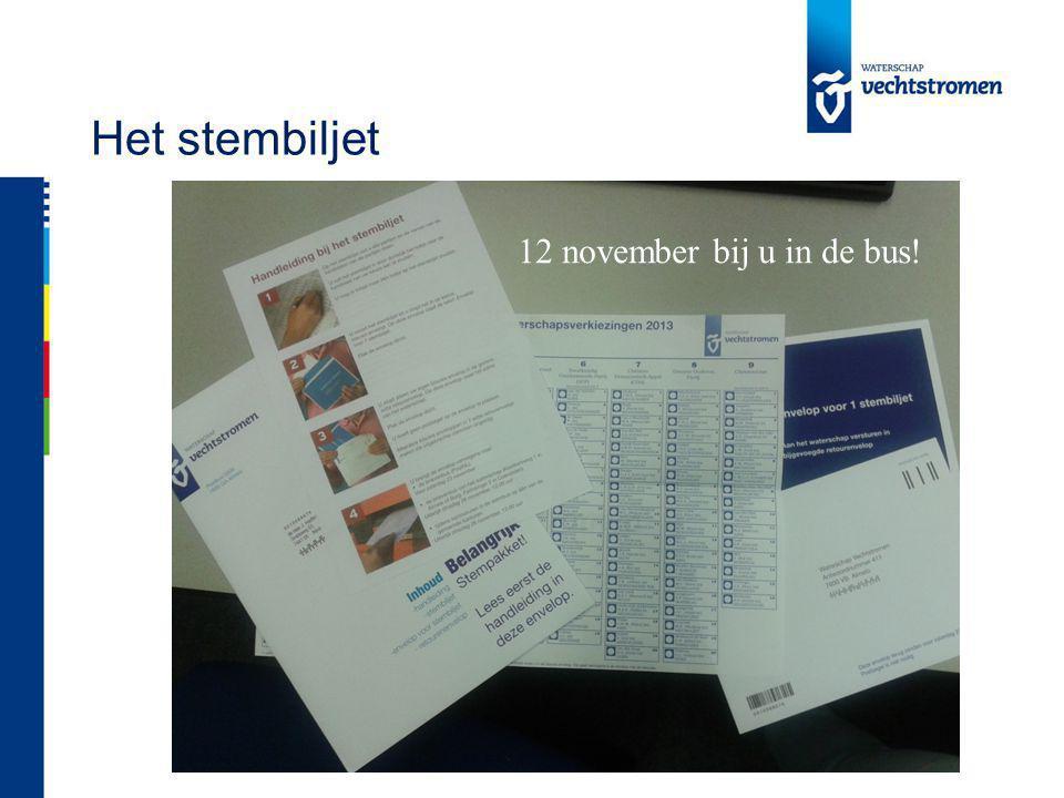 Het stembiljet 12 november bij u in de bus!