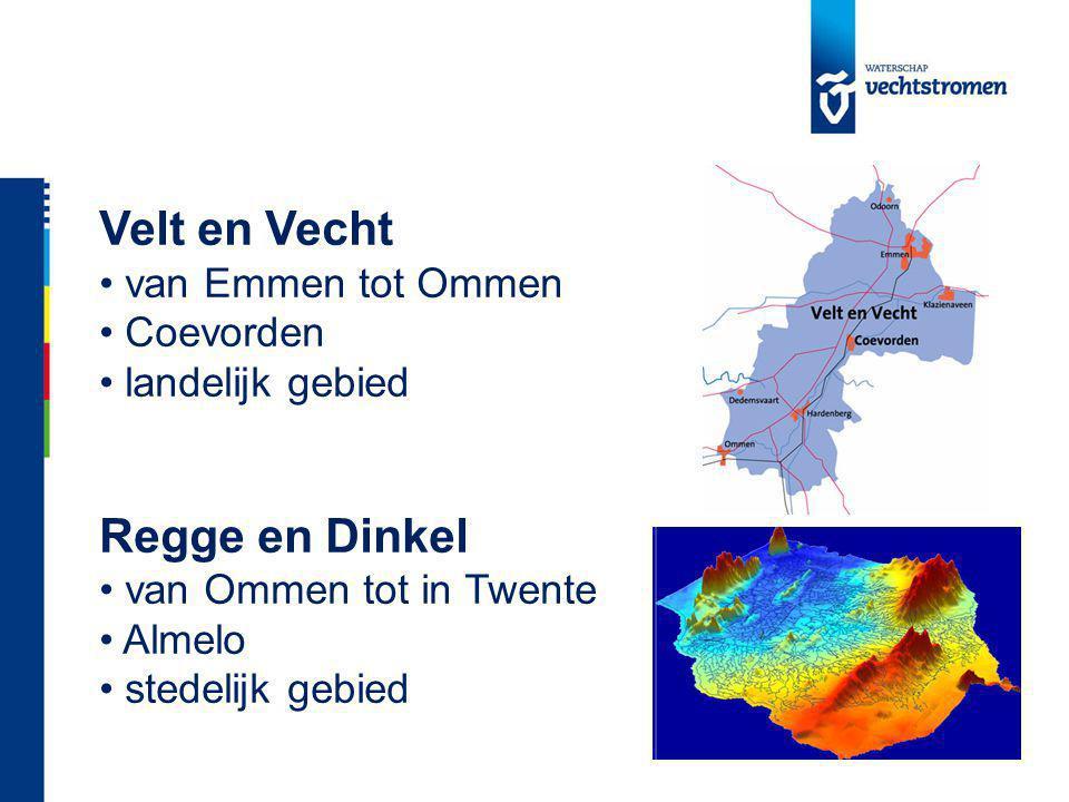 Velt en Vecht van Emmen tot Ommen Coevorden landelijk gebied Regge en Dinkel van Ommen tot in Twente Almelo stedelijk gebied