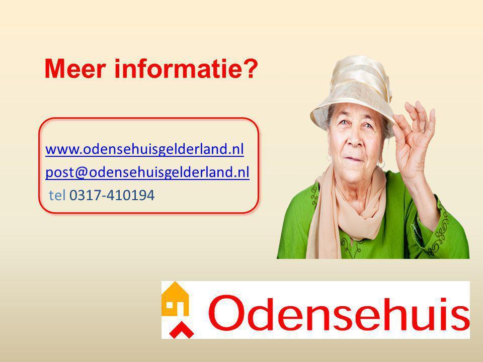 www.odensehuisgelderland.nl post@odensehuisgelderland.nl tel 0317-410194 Meer informatie?