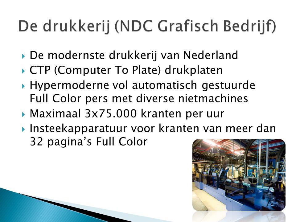  De modernste drukkerij van Nederland  CTP (Computer To Plate) drukplaten  Hypermoderne vol automatisch gestuurde Full Color pers met diverse nietm