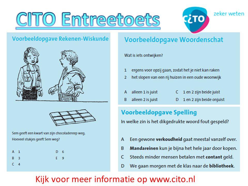 Kijk voor meer informatie op www.cito.nl