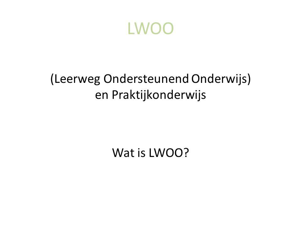 LWOO (Leerweg Ondersteunend Onderwijs) en Praktijkonderwijs Wat is LWOO?