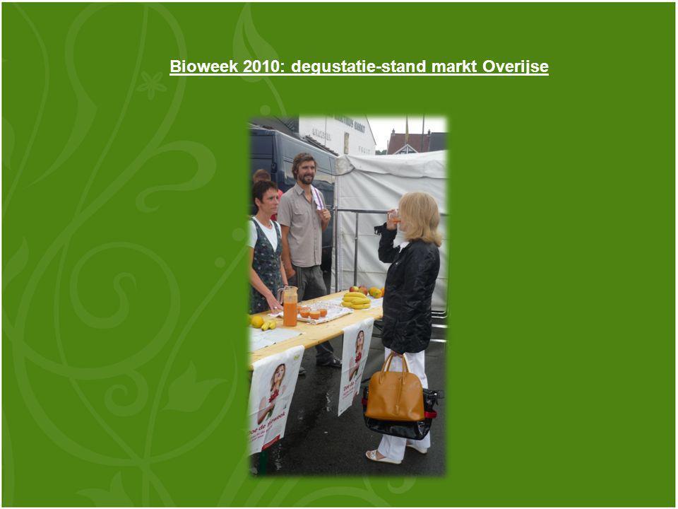 Bioweek 2010: degustatie-stand markt Overijse
