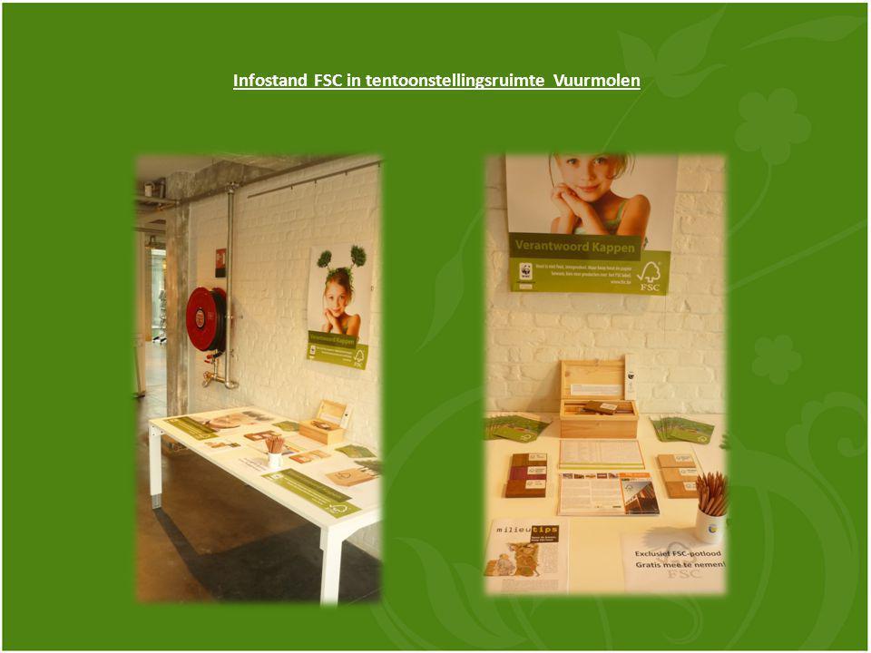 Infostand FSC in tentoonstellingsruimte Vuurmolen