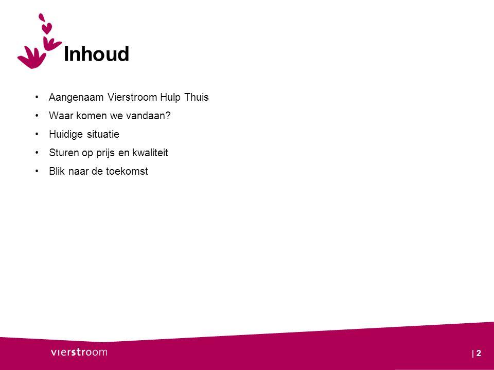 Joint venture tussen Vierstroom en Assist Zorg in Huis - Bevorderen zelfredzaamheid cliënt - Instandhouding zorgketen Gestart op 1 januari 2010 Dienstverlening aan 3550 cliënten 600 medewerkers en ca.