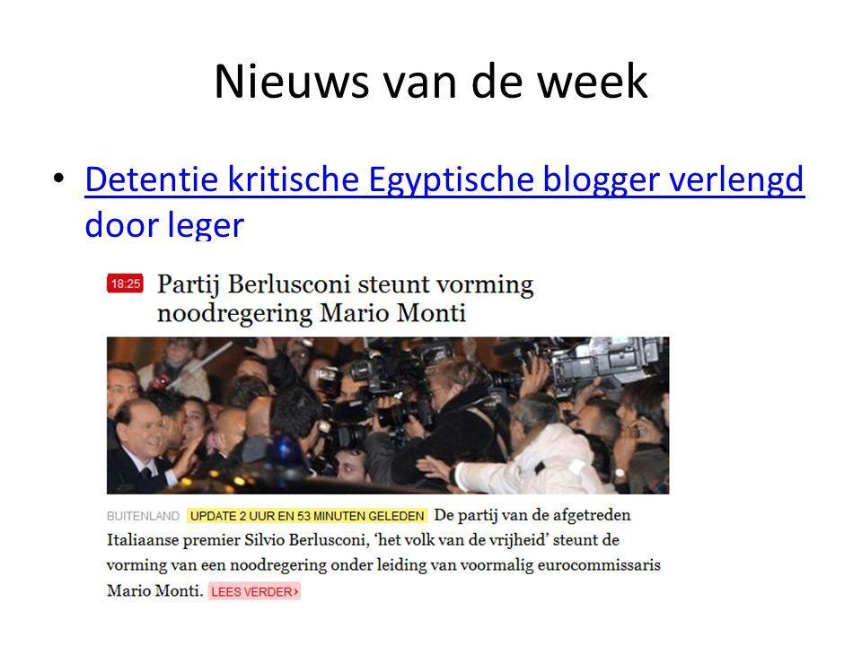 Nieuws van de week Detentie kritische Egyptische blogger verlengd door leger Detentie kritische Egyptische blogger verlengd door leger