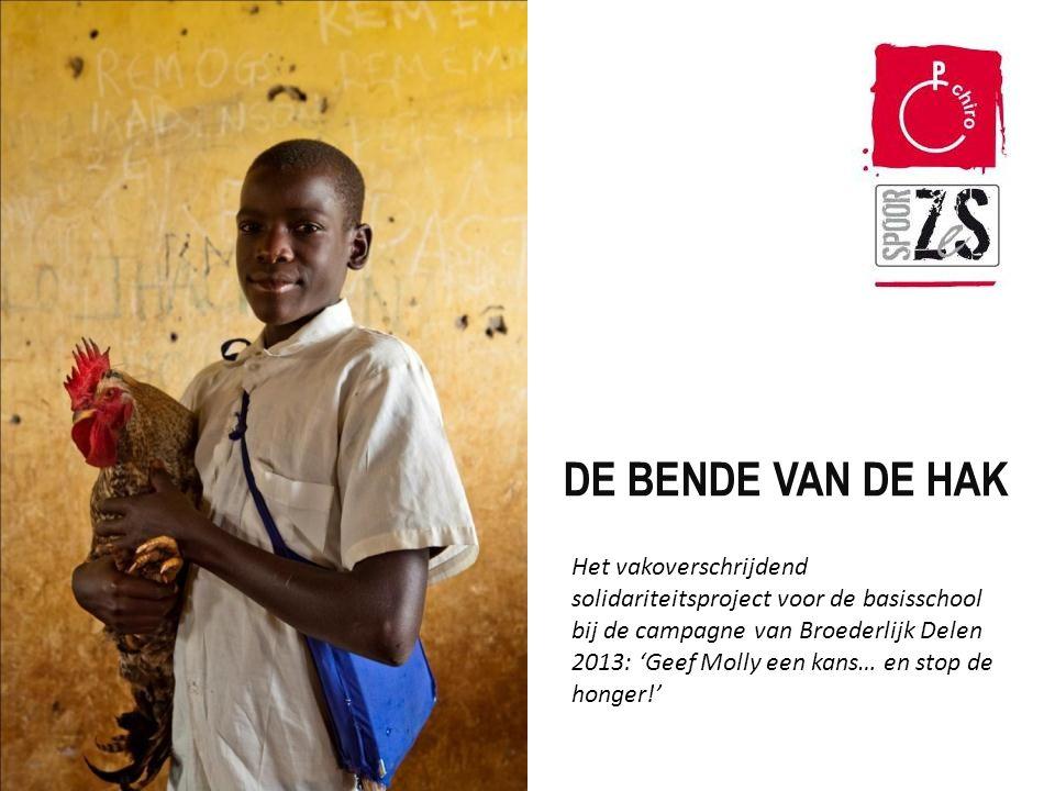 De bende van Hak DE BENDE VAN DE HAK Het vakoverschrijdend solidariteitsproject voor de basisschool bij de campagne van Broederlijk Delen 2013: 'Geef