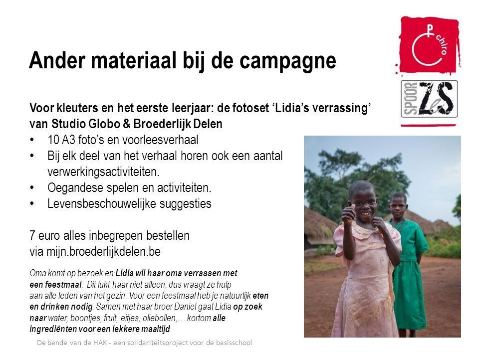De bende van de HAK - een solidariteitsproject voor de basisschool Ander materiaal bij de campagne Voor kleuters en het eerste leerjaar: de fotoset 'L