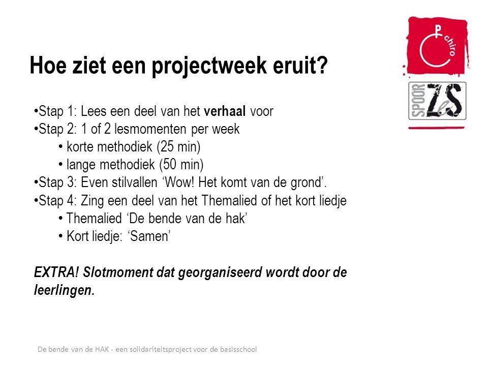 De bende van de HAK - een solidariteitsproject voor de basisschool Welke materialen horen bij het project.