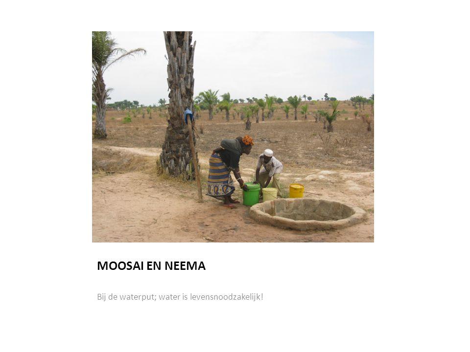 MOOSAI EN NEEMA Bij de waterput; water is levensnoodzakelijk!