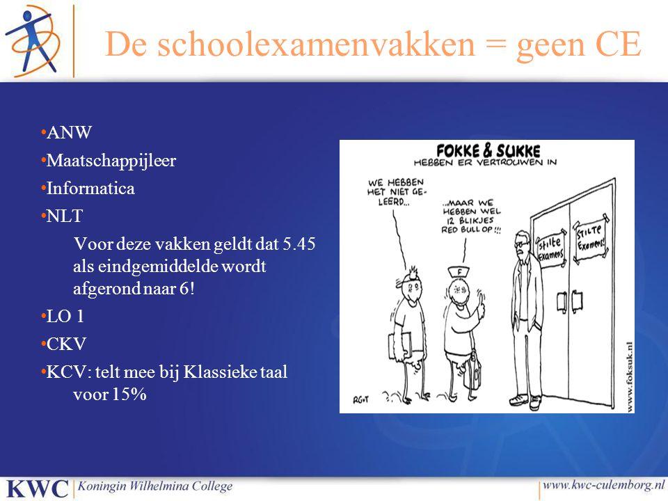 ● Huidige V6-leerlingen: wel cijfer rekentoets op diploma, telt niet mee bij zakken/slagen ● Huidige V5-leerlingen: zie V6-leerlingen ● Huidige V4-leerlingen: cijfer telt mee voor zakken/slagen, op zelfde manier als Nederlands, Engels en wiskunde…