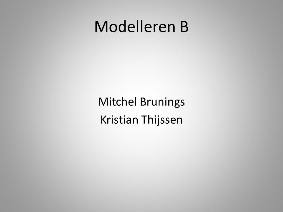 Modelleren B Mitchel Brunings Kristian Thijssen