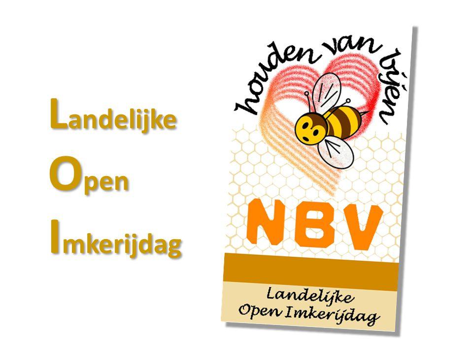 Doel: 'Het verhaal' over de honingbij vertellen; Kennismaking met imkerij; Belangstelling wekken zelf bijen houden; Maar ook: LOI zet de NBV op de kaart; Bekendheid NBV > ook t.a.v.