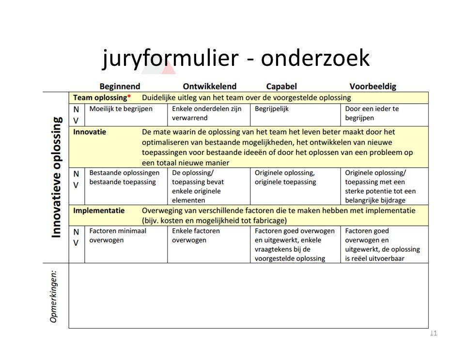 juryformulier - onderzoek 11
