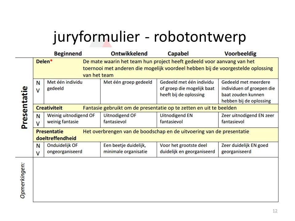juryformulier - robotontwerp 12