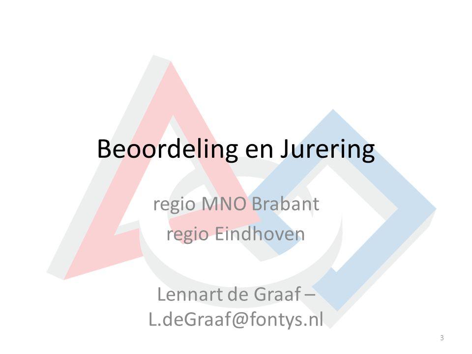 Beoordeling en Jurering regio MNO Brabant regio Eindhoven Lennart de Graaf – L.deGraaf@fontys.nl 3
