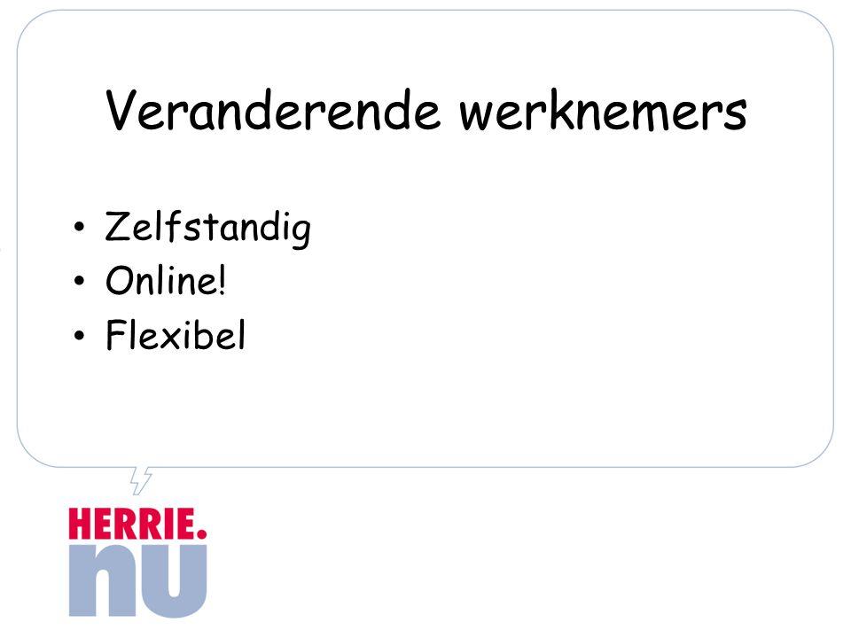 Veranderende werknemers Zelfstandig Online! Flexibel