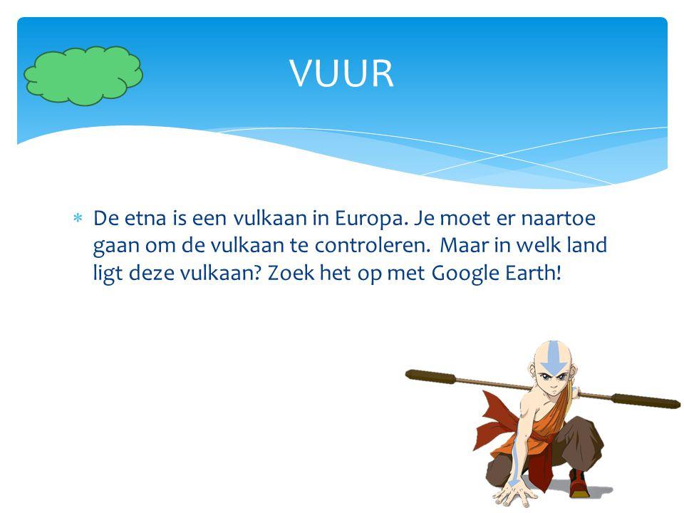  De etna is een vulkaan in Europa. Je moet er naartoe gaan om de vulkaan te controleren. Maar in welk land ligt deze vulkaan? Zoek het op met Google