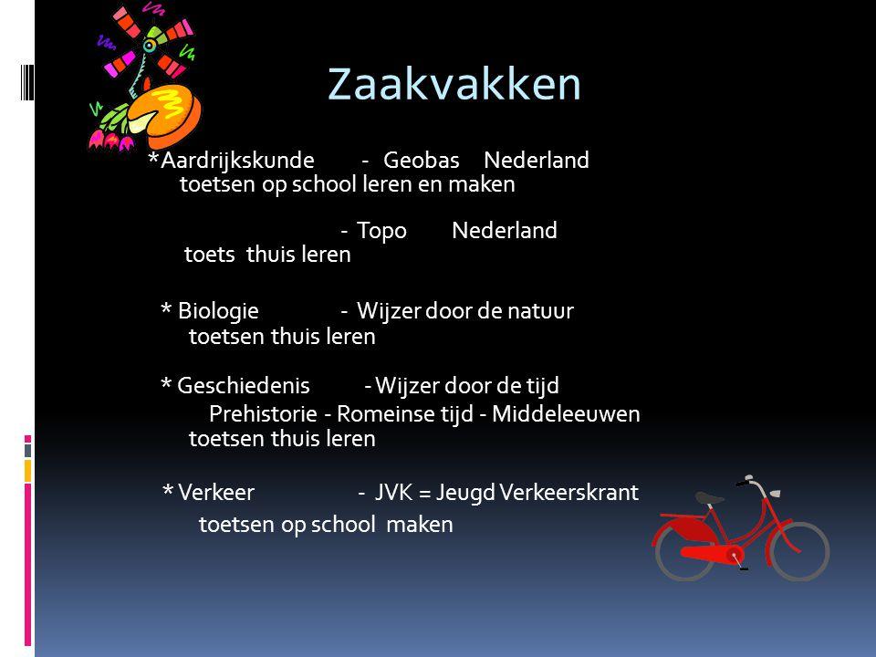 Zaakvakken *Aardrijkskunde - Geobas Nederland toetsen op school leren en maken - Topo Nederland toets thuis leren * Biologie - Wijzer door de natuur t