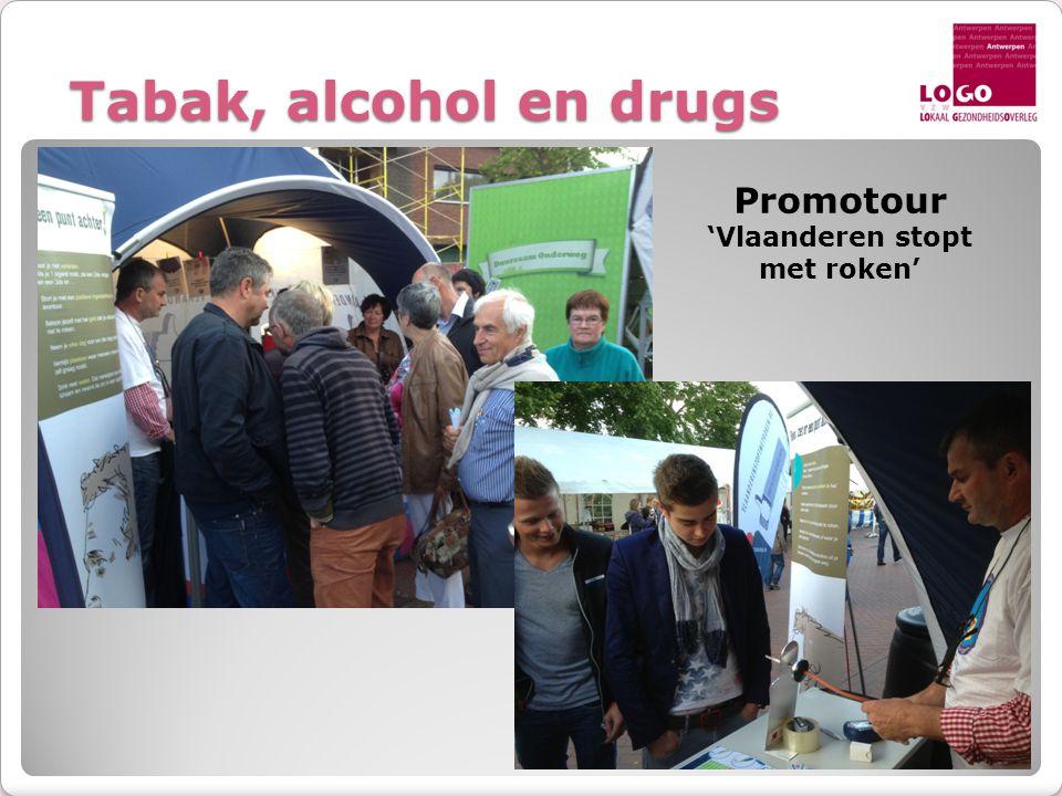 Tabak, alcohol en drugs Promotour 'Vlaanderen stopt met roken'