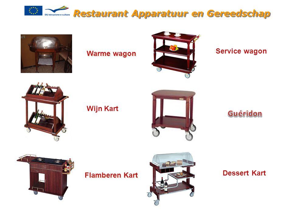 Restaurant Apparatuur en Gereedschap Warme wagon Wijn Kart Flamberen Kart Service wagon Dessert Kart