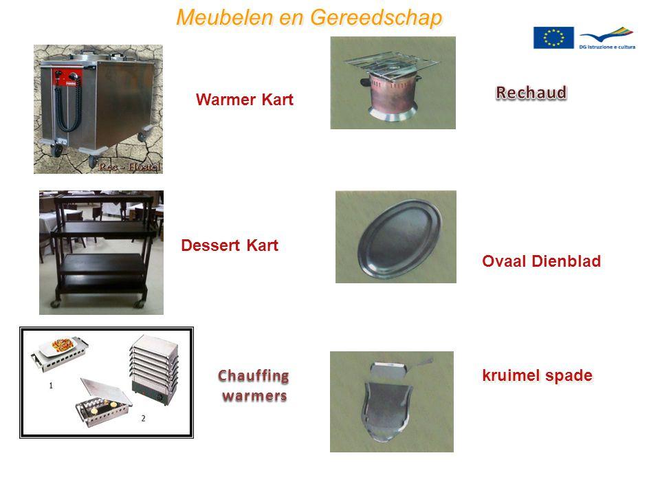 Chauffingwarmers Meubelen en Gereedschap Warmer Kart Dessert Kart kruimel spade Ovaal Dienblad