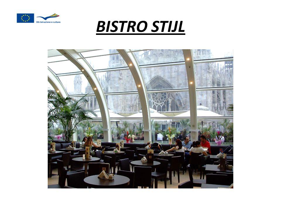 Het is vaak een informeel restaurant, Meestal in een stadscentrum.