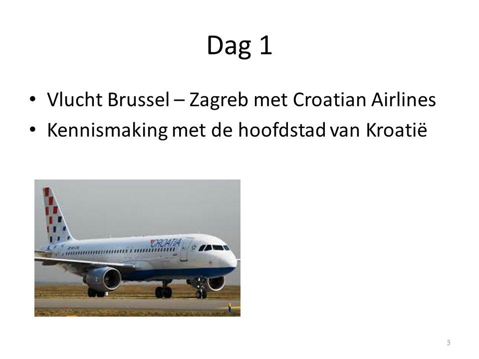 Dag 1 Vlucht Brussel – Zagreb met Croatian Airlines Kennismaking met de hoofdstad van Kroatië 3