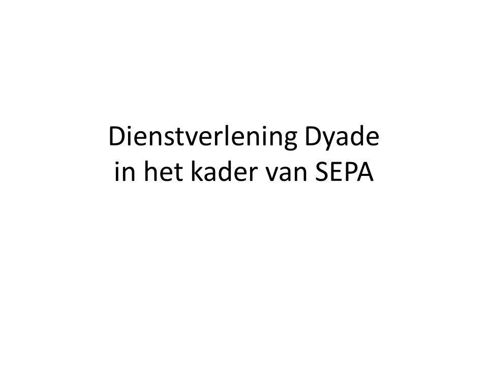 Dienstverlening Dyade in het kader van SEPA